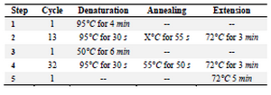 <p>Table 3. The single tube OE- PCR reaction for construction of 5'UTR+K2-SOX2/C-MYC/LIN28A-3'UTR</p>