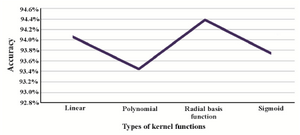 Figure 3. Accuracy of the SVM model with different kernel functions.