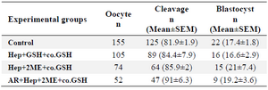 <p>Table 2. Developmental competence of ovine ICSI oocytes injected with pretreated sperm with different protocols</p>